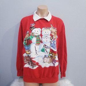 Vintage retro 80's Ugly Christmas sweater Xmas M
